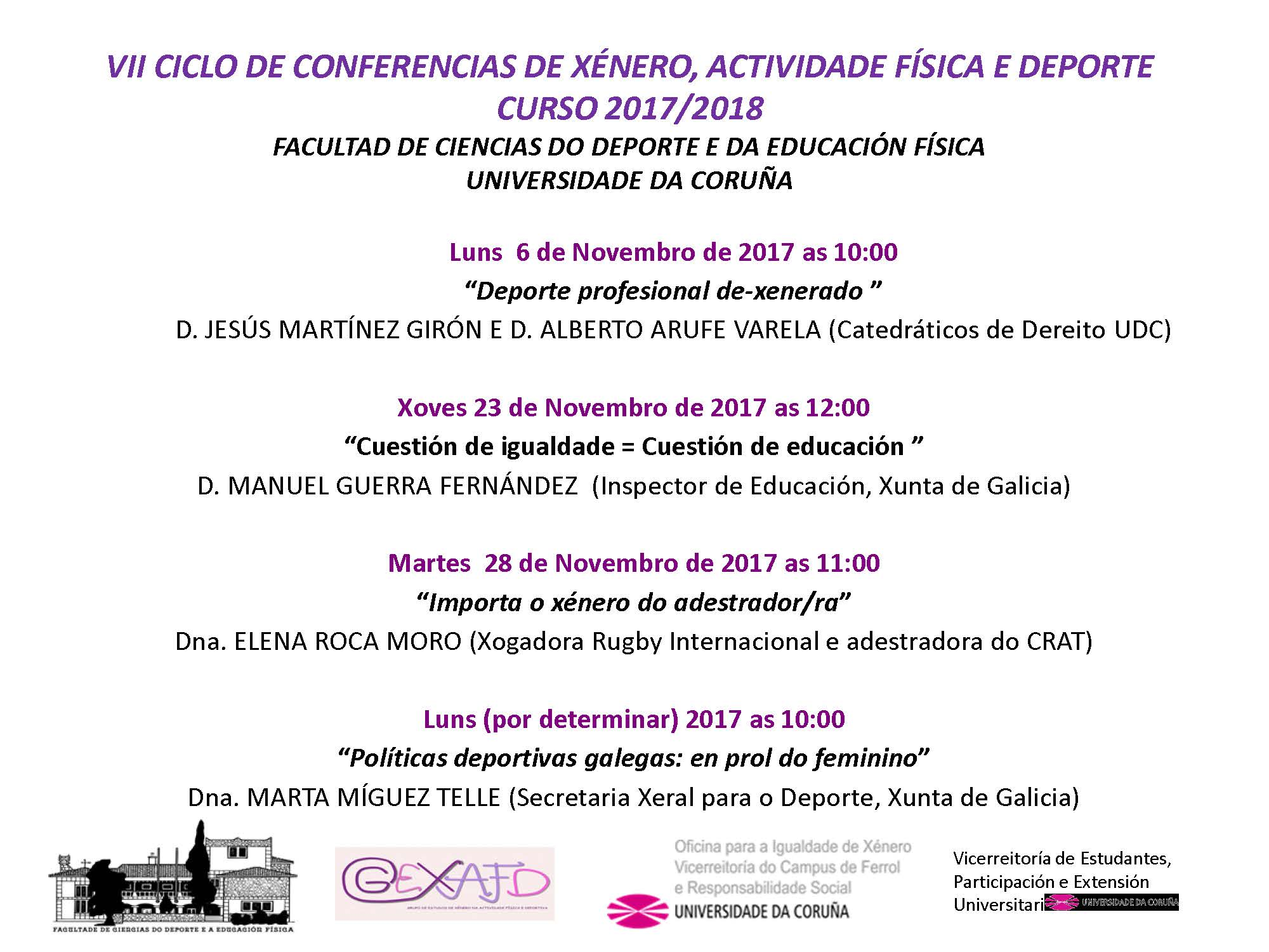CARTEL CONFERENCIAS GEN 2017 2018
